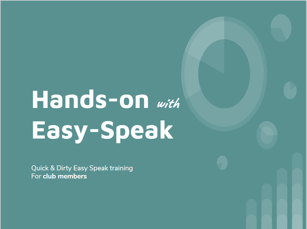 Cover of the Hands-on with Easy-Speak slideshow